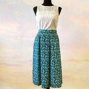 Vintage Union Made Plus Size Green Skirt